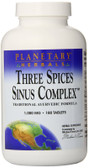 Three Spices Sinus Complex 180 Tabs, Planetary Herbals