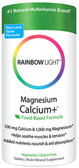 Magnesium Calcium Plus 90 Tabs Rainbow Light, Bones