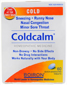 Coldcalm Blister Pak 60 Tabs Boiron, Nasal Congestion