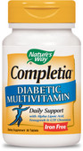 Completia Diabetic Multivitamin No Iron 30 Tabs Nature's Way, for Diabetics
