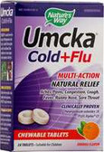 Umcka Cold & Flu Orange, 20 chews, Nature's Way