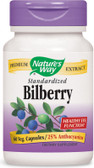 Bilberry Standardized Extract 60 Caps, Nature's Way, Vision
