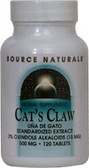 Cat's Claw 3% Standardized Ext 500 mg 120 T, Source Nat
