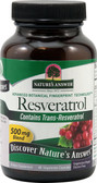 Resveratrol 250 mg 60 VCaps, Nature's Answer