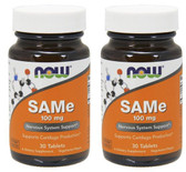 2-Pack Of SAM-e 100 mg 30 Tabs, Now Foods, Joints Stress
