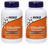 2-Pack Of L-Citrulline Pure Powder 4oz (113 g), Now Foods