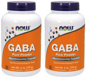 2-Pack Of GABA Powder 6 oz (170 g), Now Foods, Stress
