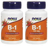 2-Pack Of B-1 100 mg 100 Tabs, Now Foods