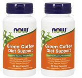 2-Pack Of Green Coffee Diet Support 90 Vcaps, Now Foods