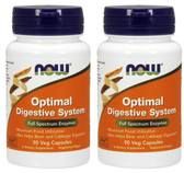 2-Pack Of Optimal Digestive System 90Veggie Caps, Now Foods
