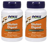 2-Pack Of Gluten Digest Enzymes 60 Vcaps, Now Foods