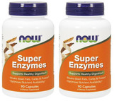 2-Pack Of Super Enzymes 90 Caps, Now Foods, Digestive Support, 634654798572