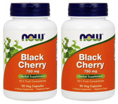 2-Pack Of Black Cherry Fruit 750 mg 90 Veggie Caps, Now Foods, Gout