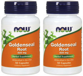 2-Pack Of Goldenseal Rt 500 mg 50 Caps, Now Foods