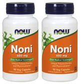2-Pack Of Hawaiian Noni 450 mg 90 Vcaps, Now Foods