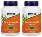 2-Pack Of Saw Palmetto 160 mg 240 Sgels, Now Foods, Healthy Prostate