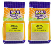 2-Pack Of Whole Psyllium Husks 16 oz (454 g), Now Foods