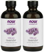 2-Pack Of Lavender Oil 4 oz, Now Foods, Aromatherapy Oils