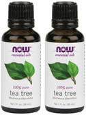 2-Pack Of Essential Oils Tea Tree 1 oz (30 ml), Now Foods, Aromatherapy