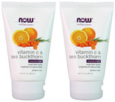 2-Pack Of Moisturizer Vitamin C & Sea Buckthorn 2 oz (59 ml), Now Foods