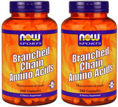 2-Pack Of Sports Branched Chain Amino Acids 240 Caps, Now Foods