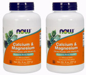 2-Pack Of Cal/Mag Citrate Powder 8 oz, Now Foods, Bones Calcium Magnesium