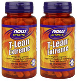 2-Pack Of T-Lean Extreme 60 Vcaps, Now Foods, Body Fat Reduction