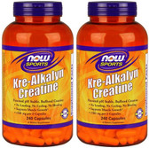 2-Pack Of Sports Kre-Alkalyn Creatine 240 Caps, Now Foods, Muscle Growth