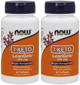 2-Pack Of 7-Keto LeanGels Weight Management 100 mg 60 sGels, Now Foods