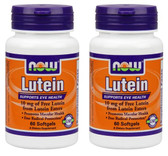 2-Pack Of Lutein 10 mg (From Lutein Esters) 60 Sgels, Now Foods