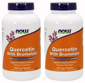2-Pack Of Quercetin with Bromelain 240 Veg Caps, Now Foods, Immune Support