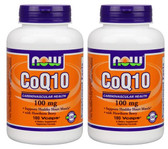 2-Pack Of CoQ10 100 mg 180 Vcaps, Now Foods