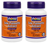 2-Pack Of Saw Palmetto 160 mg 60 Sgels, Now Foods