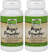 2-Pack Of Real Food Agar Powder 2 oz (57 g), Now Foods