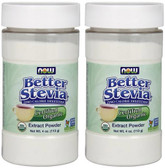 2-Pack Of Organic Stevia White Extract Powder 4 oz,Now Foods 0 Calorie Sweetener