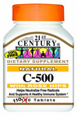 Natural C-500 with Rose Hips 110 Tabs, 21st Century Health Care