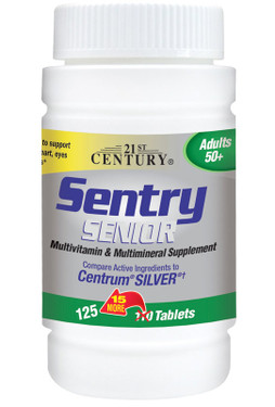 Sentry Senior Multivitamin & Multimineral for Adults 50+ 110 Tabs, 21st Century Health Care