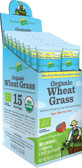 Organic Wheat Grass Whole Food Drink Powder 15 Individual Packets 8 g Each, Amazing Grass