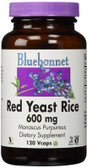 Red Yeast Rice 600 mg 120 Vcaps, Bluebonnet Nutrition
