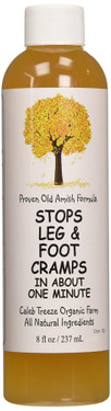 Stops Leg & Foot Cramps 8 oz (237 ml), Caleb Treeze Organic Farm