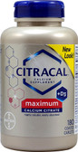 Citracal +D3 Calcium Citrate Maximum 180 Coated Caplets, Citracal
