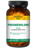 Pregnenolone 10 mg 60 Veggie Caps, Country Life