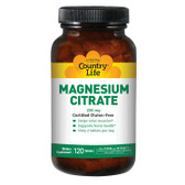 Magnesium Citrate 250 mg 120 Tabs, Country Life