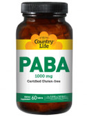 PABA Time Release 1000 mg 60 Tabs, Country Life