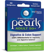Probiotic Pearls Adult 50+ 30 sGels, Enzymatic Therapy