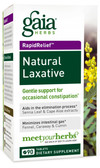 Rapid Relief Natural Laxative 90 Tabs, Gaia Herbs