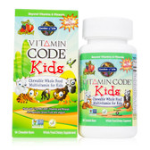 Vitamin Code Kids Chewable Whole Food Multivitamin for Kids Cherry Berry 60 Chewable Bears, Garden of Life