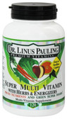 Dr. Linus Pauling Super Multi Vitamin with Herbs & Energizers 120 Caplets, Irwin Naturals