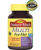 Multi for Her With Iron & Calcium 90 Tabs, Nature Made