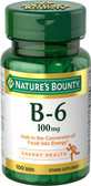 Vitamin B-6 100 mg 100 Tabs, Nature's Bounty